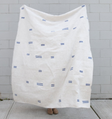 Caroline Z Hurley / Oaxaca Navy Throw