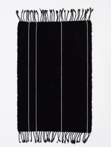 Caroline Z Hurley / Francisco Black Stripe Bath Mat