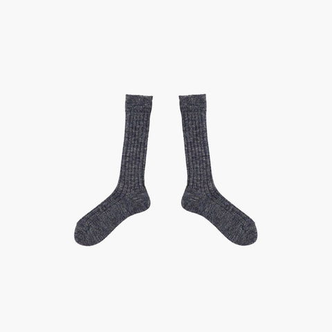 Fog Linen / Wool-Linen Socks in Black