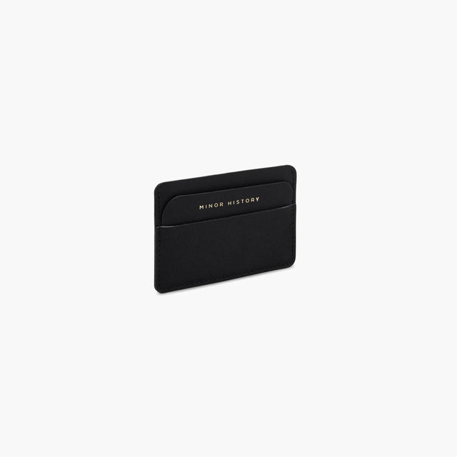 Minor History / Metro Open Wallet in Oiled Black