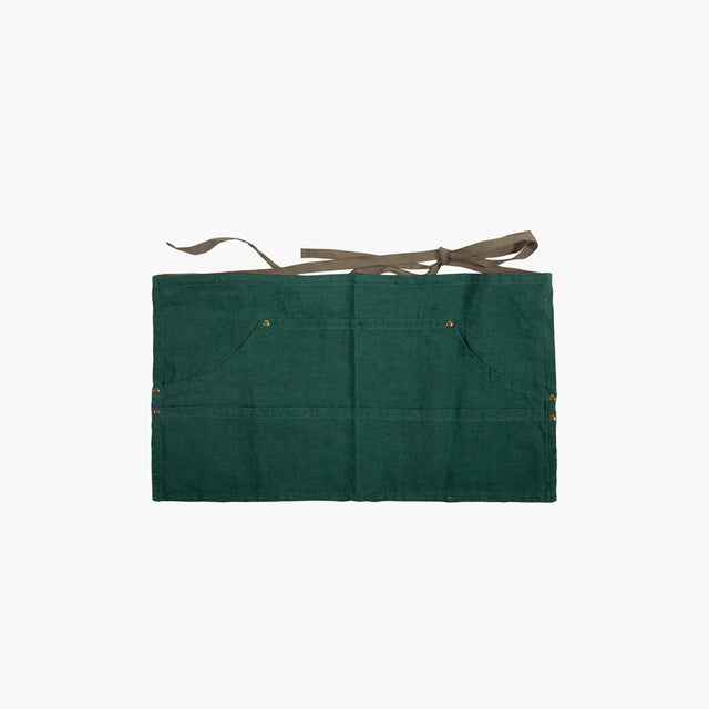 Sir Madam / Linen Workers Apron in Green