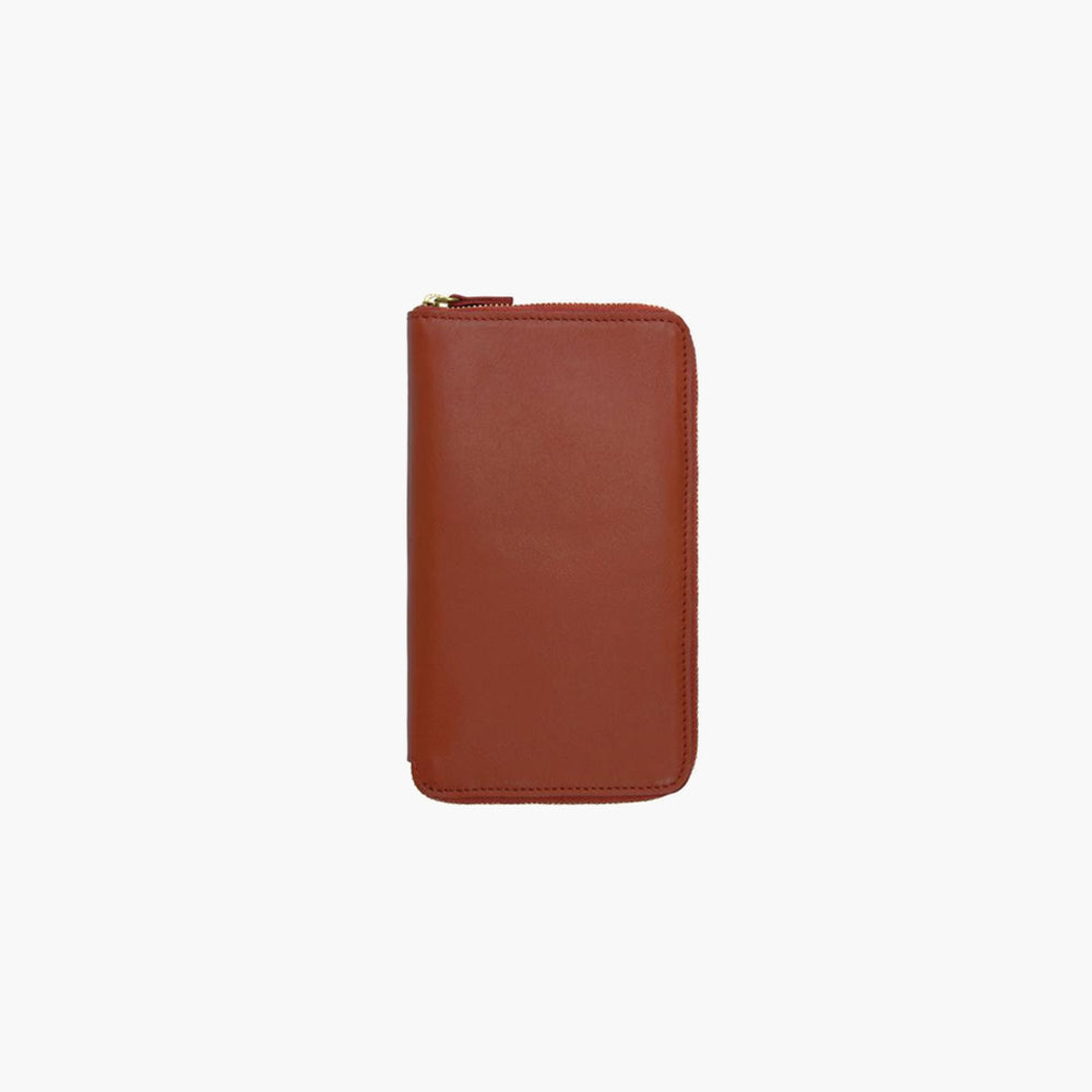 Minor History / Tall Coupe Large Zipper Wallet in Carnelian