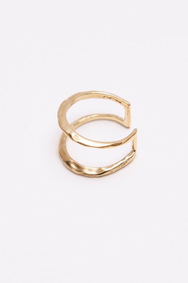 Odette / Ridge Stack Ring in Brass