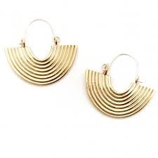 Odette / Aalto Earrings in Brass