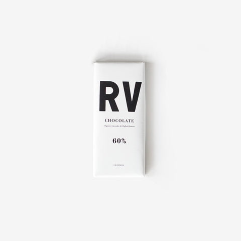 Regular Visitors x Raaka / 60% Coconut Milk Chocolate with Organic Lavender & Puffed Quinoa