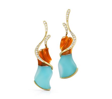 Diana Vincent Fire Earrings