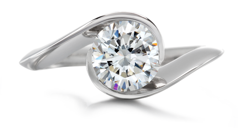 Contour Engagement Ring