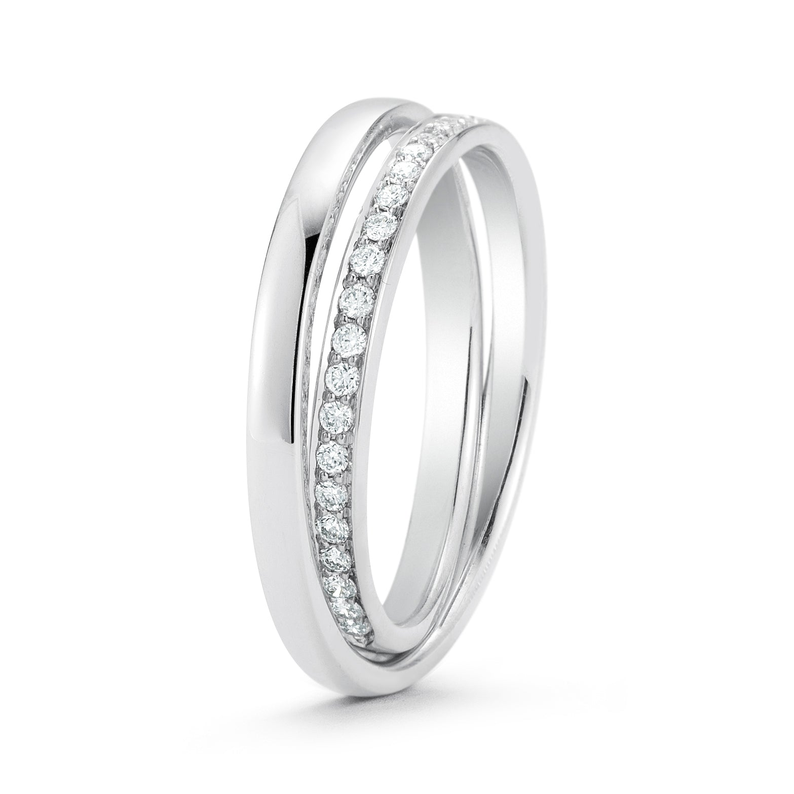 Buy the White Gold and Diamond Wedding Band at our Online Store