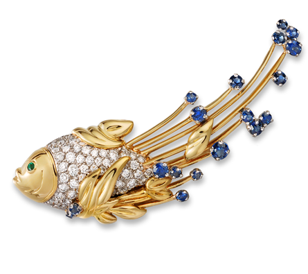 Diana Vincent Water Brooch