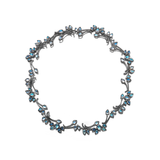 Diana Vincent Leaf Rainbow Moonstone & Diamond Necklace
