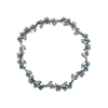Leaf Rainbow Moonstone and Diamond Link Necklace