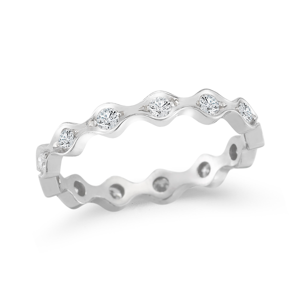 Unique Steller Vibe Diamonds Eternity Wedding Band by Diana Vincent