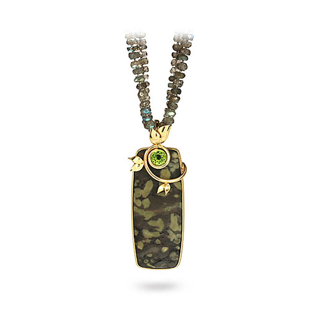 Serpentine, Peridot and Labradorite Necklace by Diana Vincent