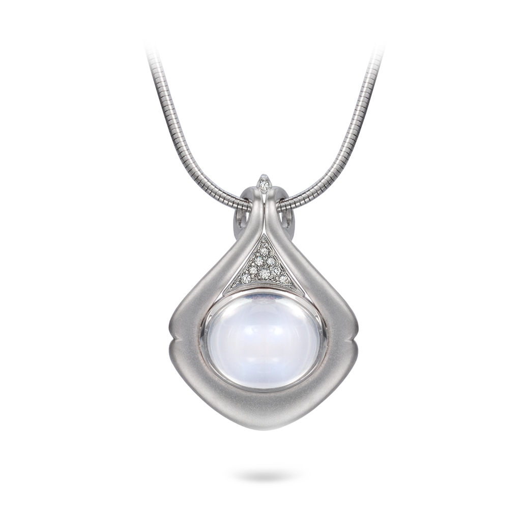Diana Vincent Moonstone and Diamond Pendant
