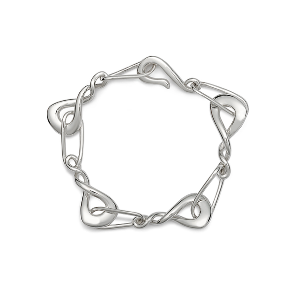 Twizzle Bombay Sterling Silver Link Bracelet by Diana Vincent