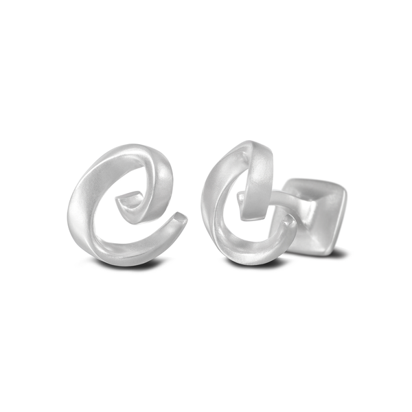 Diana Vincent Signature Sterling Silver Cuff Link with Mist Finish (Letter C)