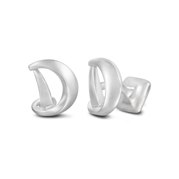 Diana Vincent Signature Sterling Silver Cuff Link with Mist Finish (Letter D)