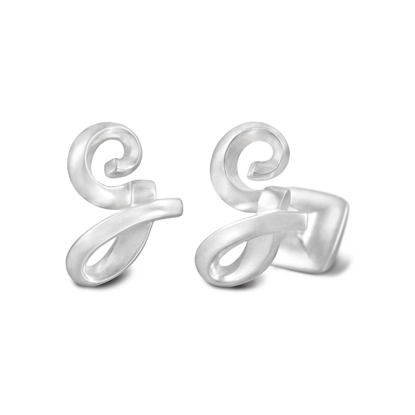 Signature Sterling Silver or Gold Men's Cufflink Letter G