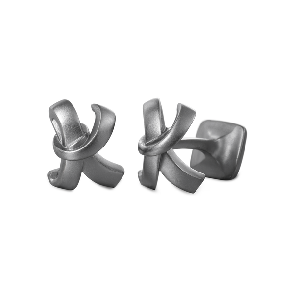 Signature Oxidized Sterling Silver or Gold Men's Cufflink Letter K