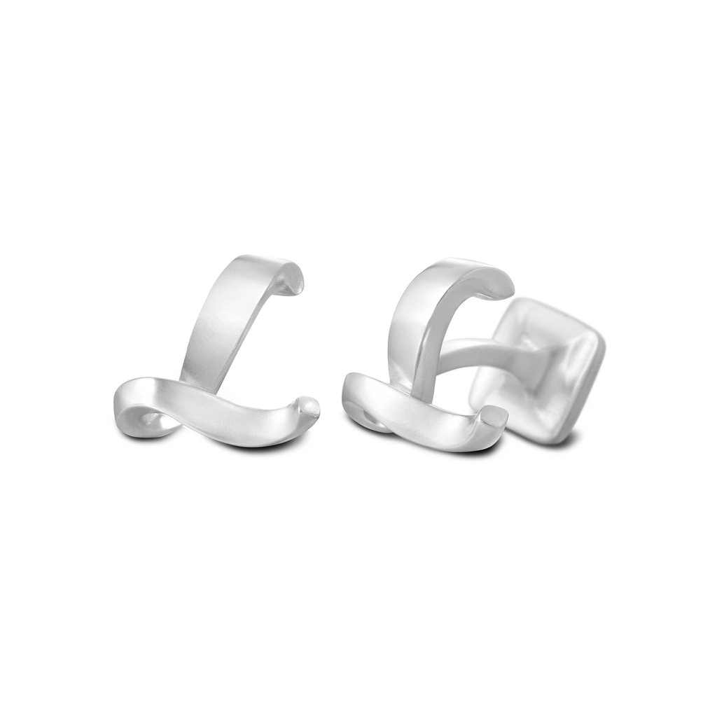 Signature Sterling Silver or Gold Men's Cufflink Letter L