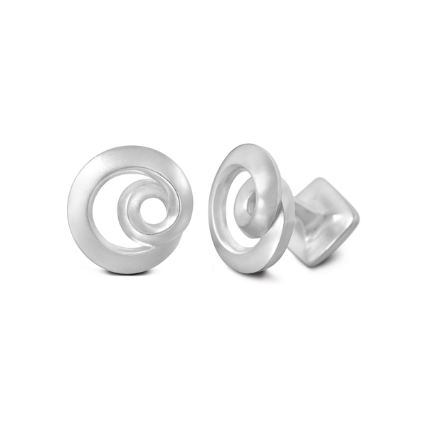 Diana Vincent Signature Sterling Silver Cuff Link with Mist Finish (Letter O)
