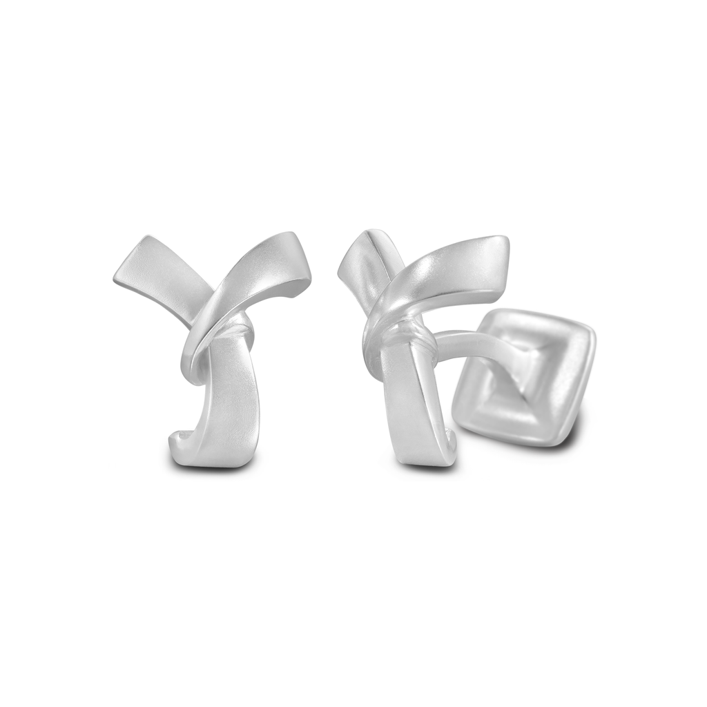 Signature Sterling Silver or Gold Men's Cufflink Letter Y