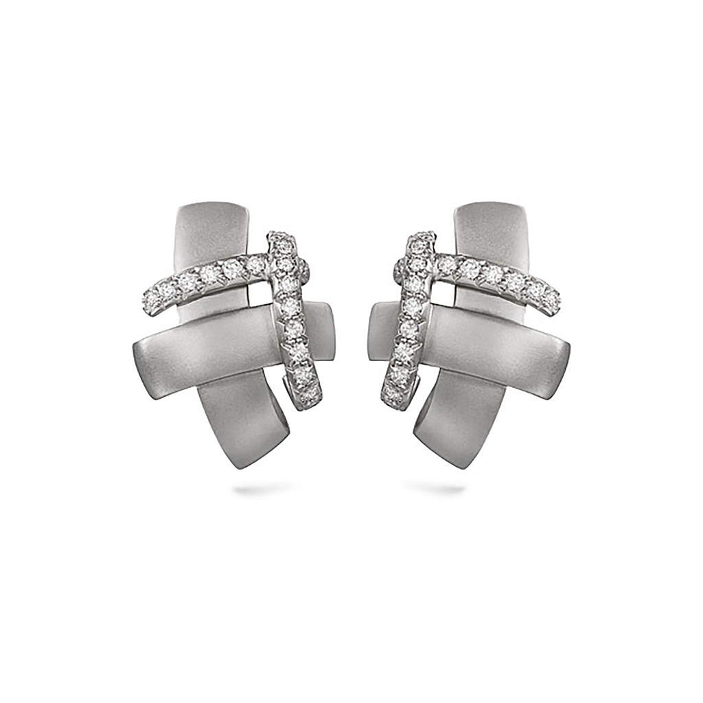 Girl Interrupted Diamond and White Gold Earring – Diana Vincent ...