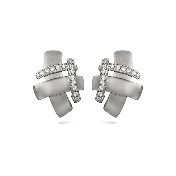 Girl Interrupted Diamond and White Gold Earrings by Diana Vincent