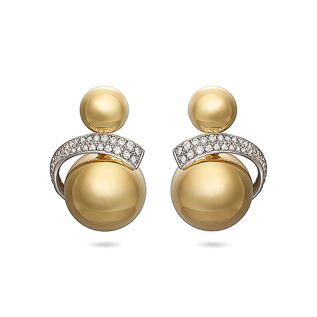 Diana Vincent Contour Sphere Earrings