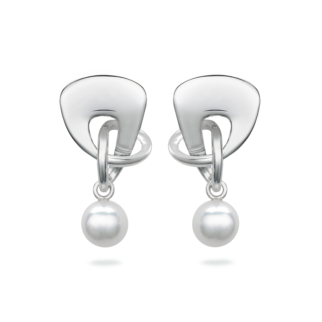 Twizzle Bombay Pearls and Sterling Silver Earrings by Diana Vincent