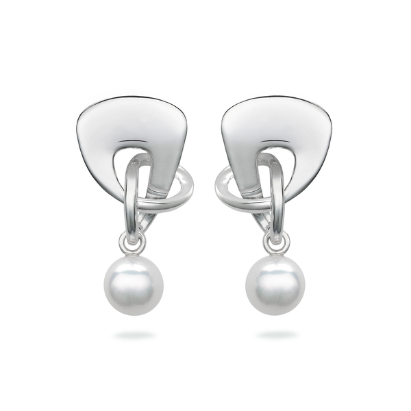 Twizzle Bombay Pearl and Sterling Silver Earrings