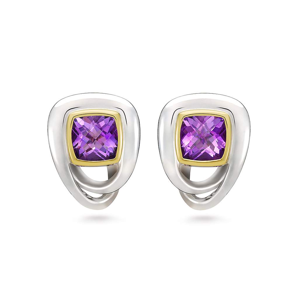 Twizzle Bombay Amethyst Gemstone and Sterling Silver Earrings by Diana Vincent