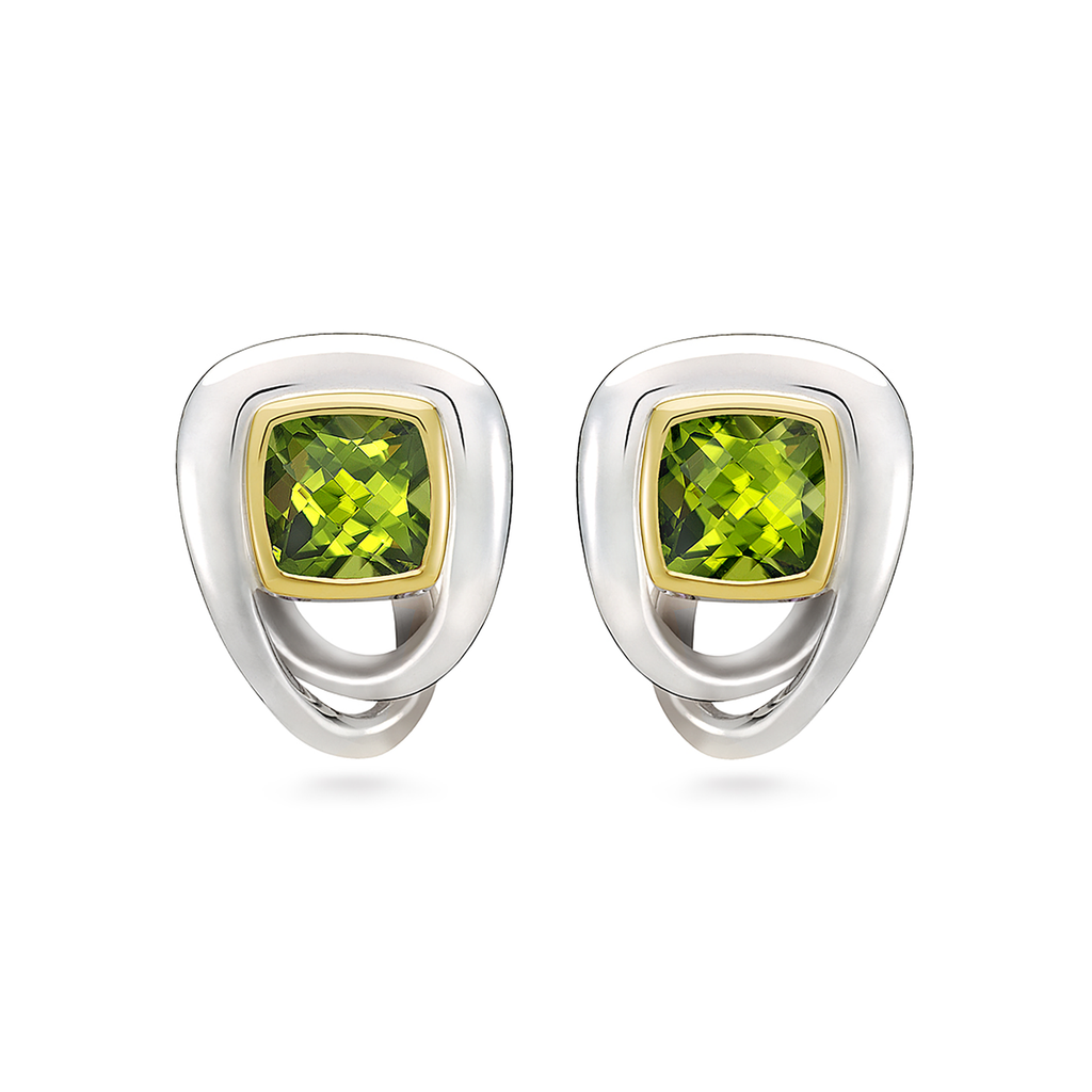 Twizzle Bombay Peridot Gemstone and Sterling Silver Earrings by Diana Vincent