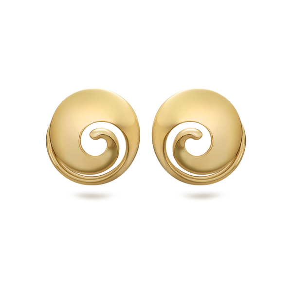 Twizzle Spiral Yellow Gold Earrings