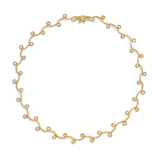 Contour Diamond and Yellow Gold Link Necklace