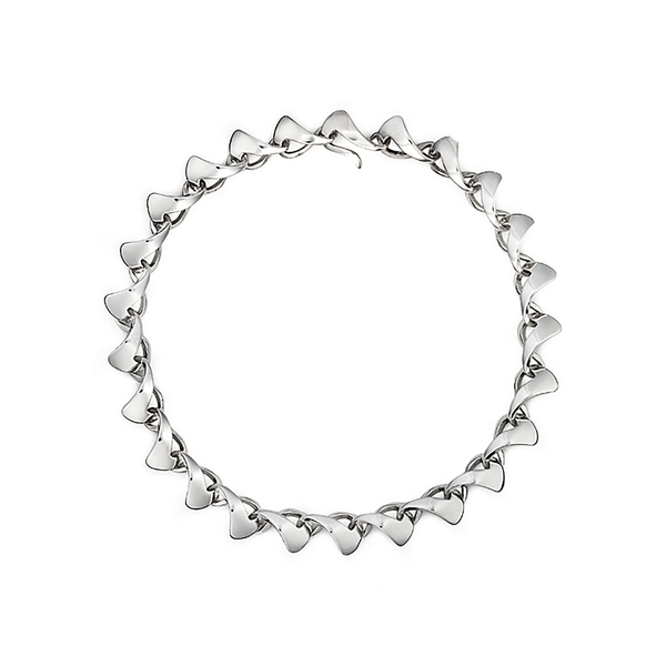 Twizzle Bombay Sterling Silver Link Necklace