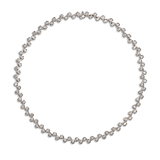 Contour Diamond and White Gold Link Necklace by Diana Vincent