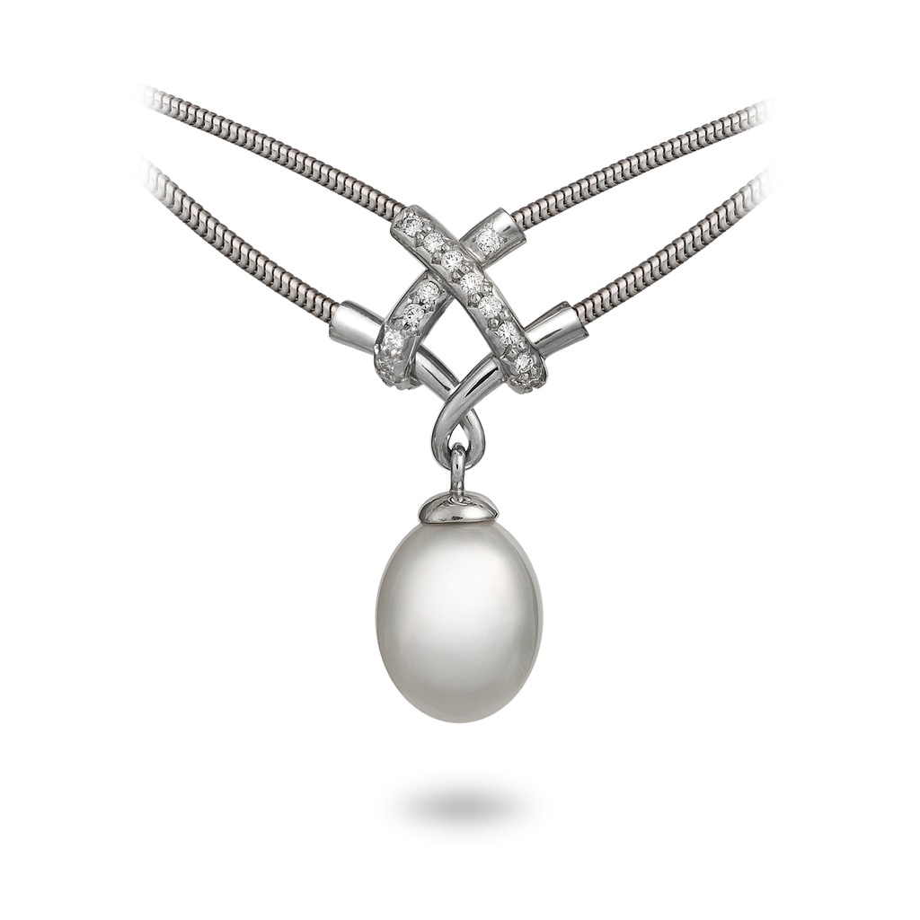 Diana Vincent Girl Interrupted Pearl Pendant