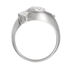 Contour Three Stone Round Diamond Engagement Ring Side View