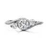 Contour Three Stone Round Diamond Engagement Ring by Diana Vincent