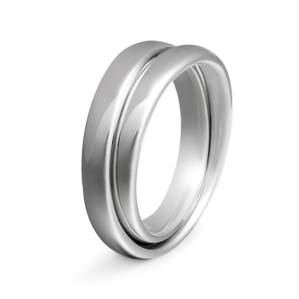 Continuum Platinum Wedding Band by Diana Vincent