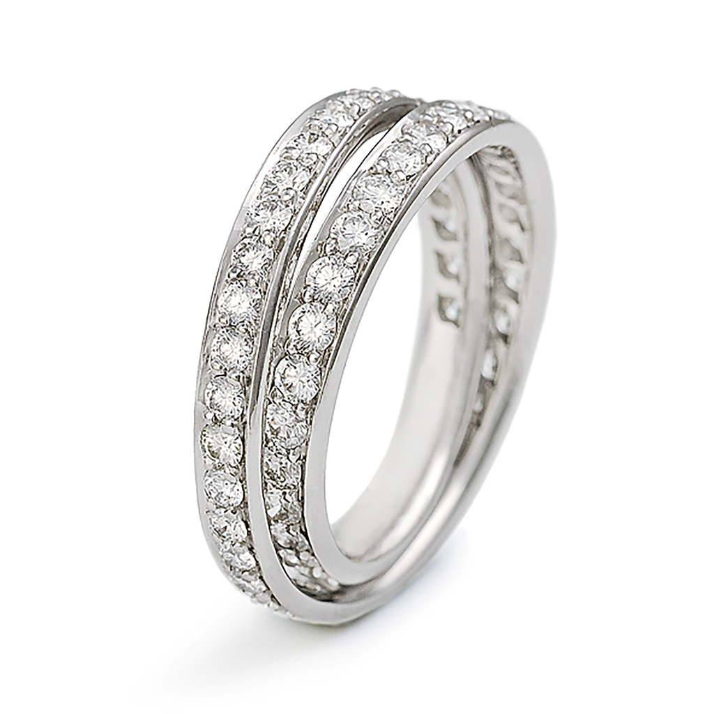 Continuum All Around Diamond Pave Wedding Band by Diana Vincent