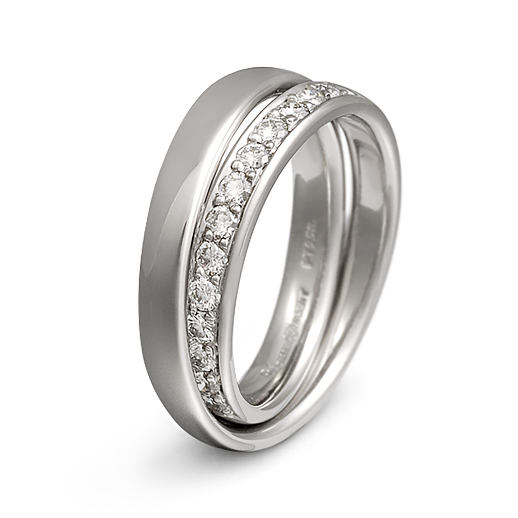 Continuum Inside Diamond Wedding Band by Diana Vincent