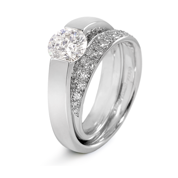 Continuum Diamond Engagement Ring with Pave by Diana Vincent