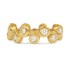 Contour Coil Diamond Yellow Gold Stack Wedding Band by Diana Vincent