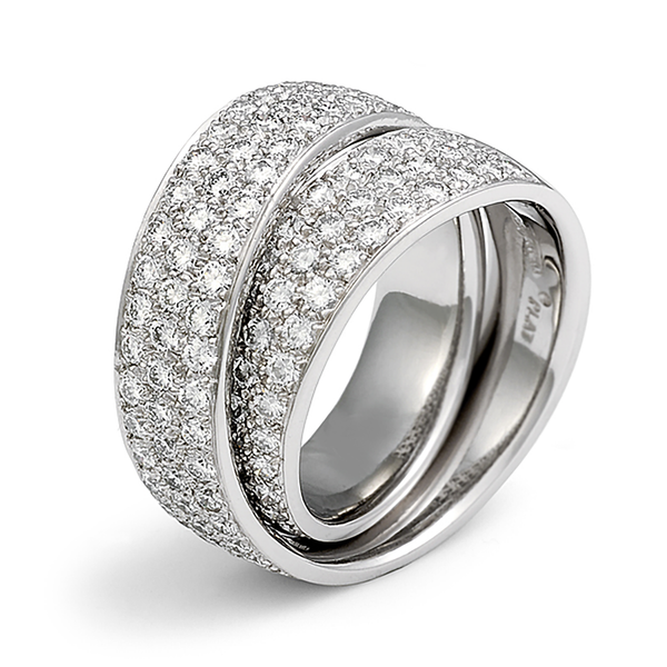 Continuum 3 Row Pave All Around Diamond Wedding Band by Diana Vincent