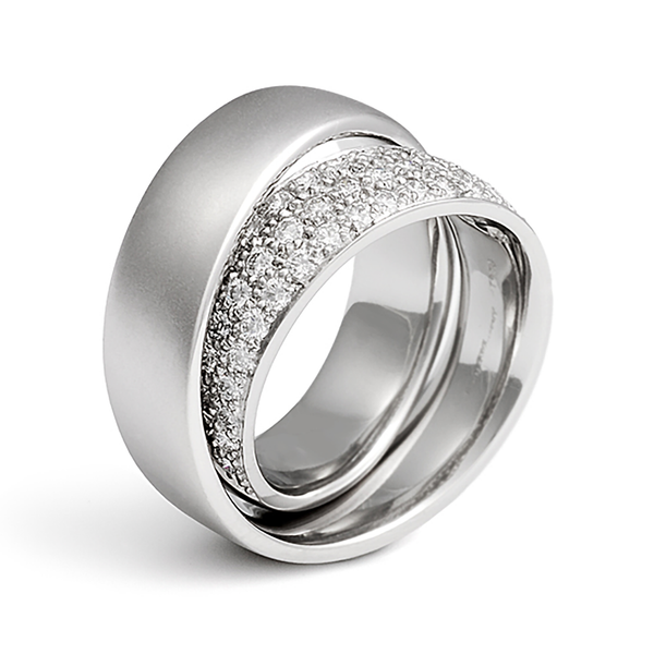 Continuum Inside Diamond Pave Diamond Wedding Band by Diana Vincent