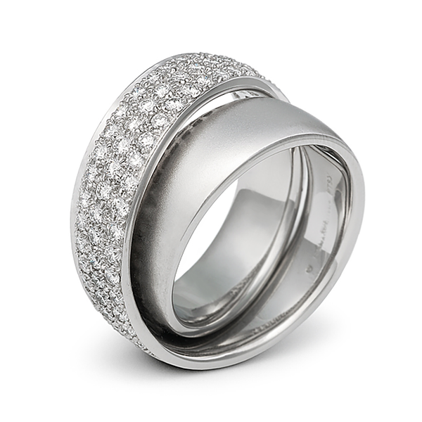 Continuum Outside Diamond Pave Wedding Band by Diana Vincent