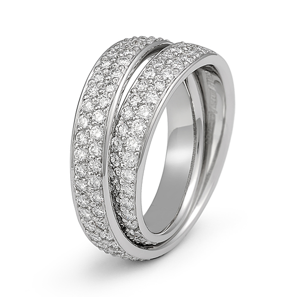 Continuum 2 Row Pave All Around Diamond Wedding Band by Diana Vincent