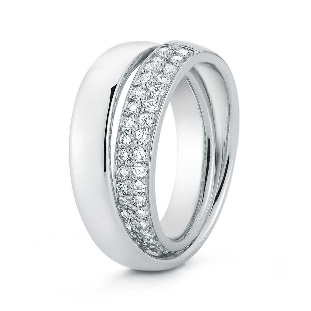 Shop the Continuum Diamond Pave Wedding Band in Platinum Online